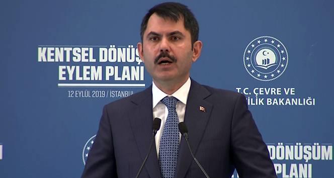 Murat Kurumdan kentsel dönüşüm ile ilgili önemli açıklama