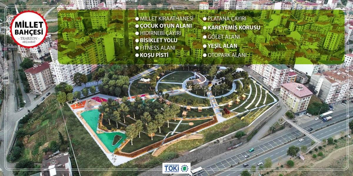 Toki 81 ilde yapılacak 154 millet bahçesi'nin 11'i tamamlandı.