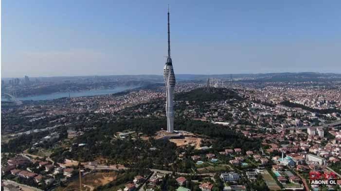 388 Metrelik Çamlıca tv kulesi sona yaklaşıyor