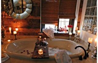 Romantik Banyo Dekorasyonları