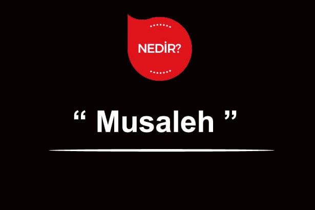Musaleh Kelime Anlamı