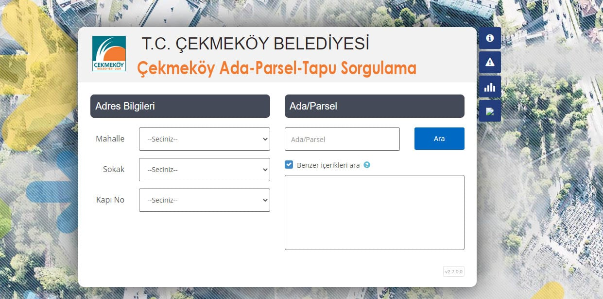 Çekmeköy Ada Parsel Tapu Sorgulama